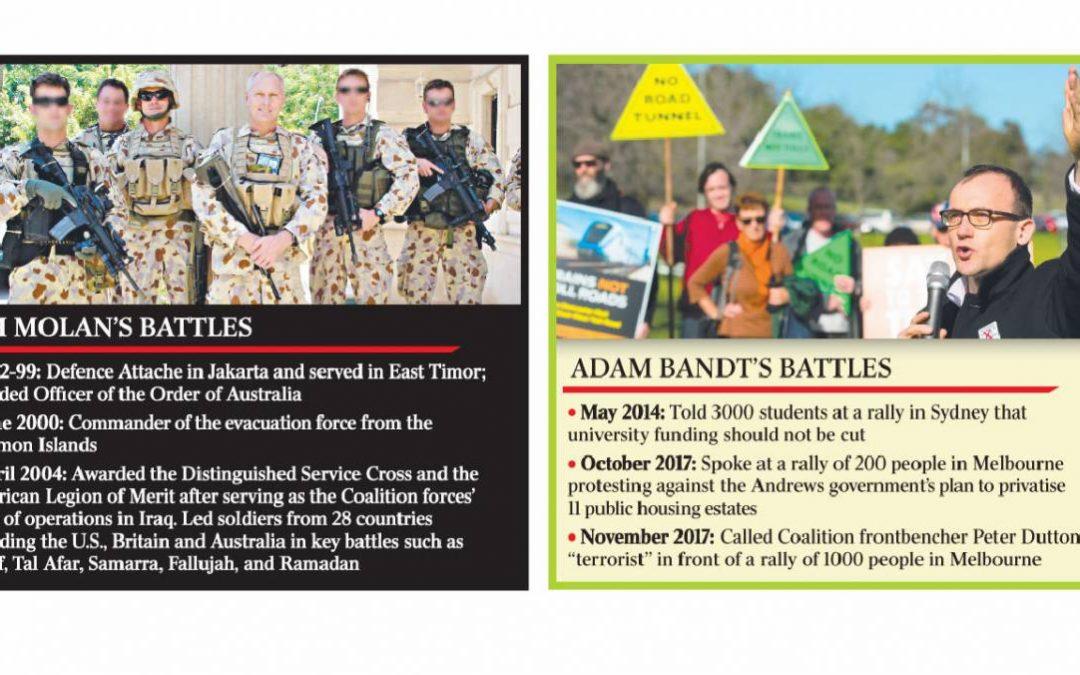 The source of Bandt rant against Major General (Senator) Jim Molan — Andrew Bolt